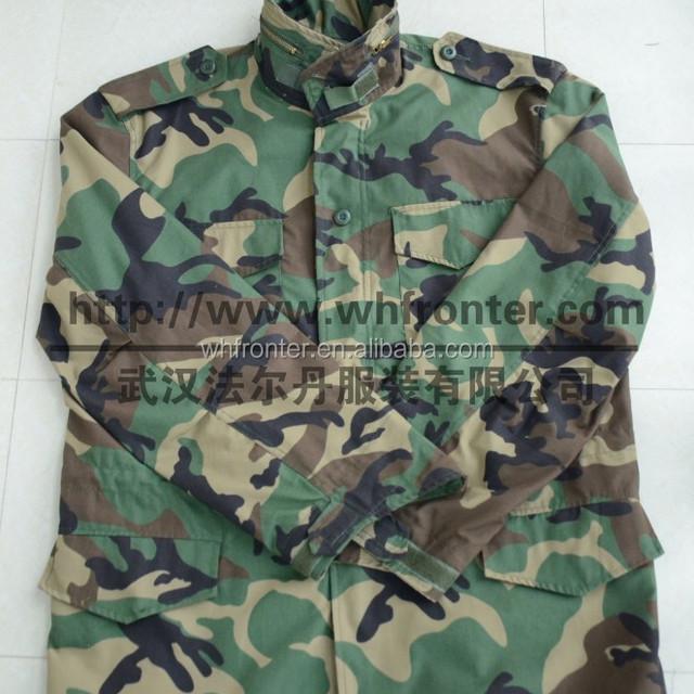 winter windproof woodland camouflage jacket