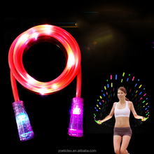 2017 Hot Selling wholesale fashion colorful fitness exercise LED light luminous jumping rope