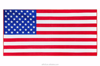Best Selling Products 2017 In USA Microfiber Terry Fabric USA Flag Shaped Sublimation Beach Towel
