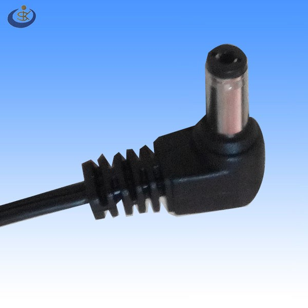 12V angle DC 2.5*5.5mm2 with male dc power plug