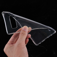 Free Sample Custom Clear Shockproof Mobile Back Cover Transparent Soft Tpu Cell Phone Case For Samsung Galaxy Note 8 Case