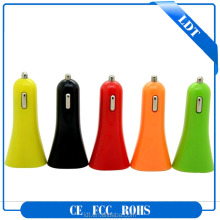 2016 dual usb multi pin mobile phone coloured car charger
