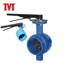 gg20 cast iron rotary disc signal groove end butterfly valve with reducer