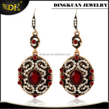alloy earring jewelry antique gold plated earrings designs for girls