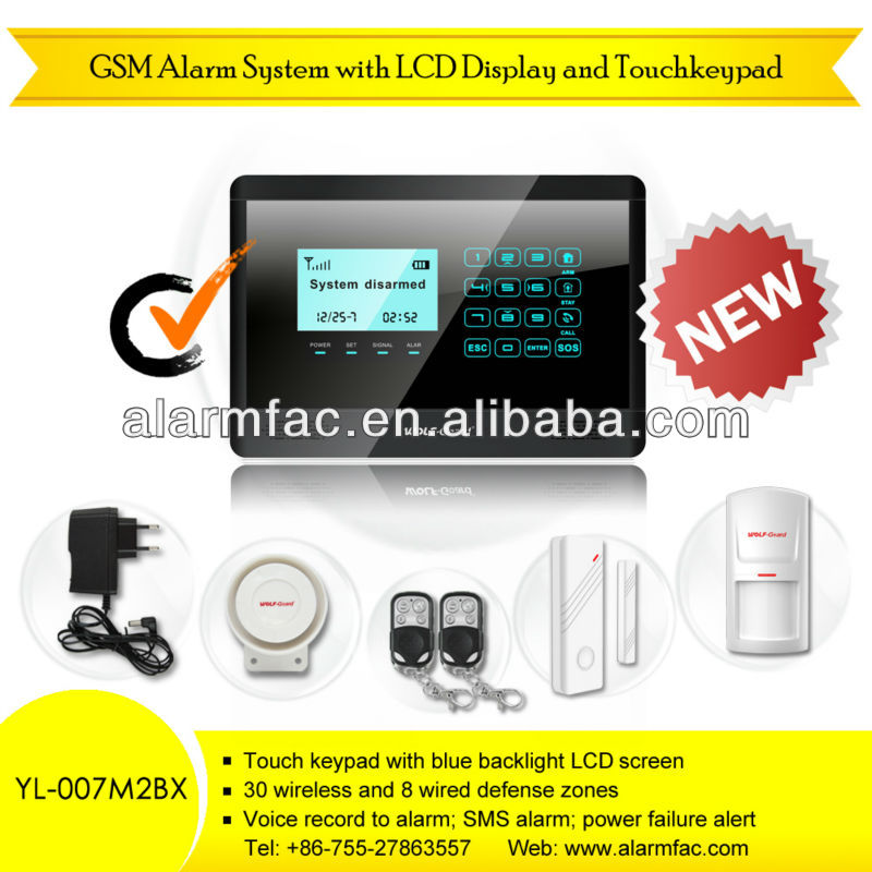 Home automation! GSM wireless smart burglar alarm with touch screen and remote listening