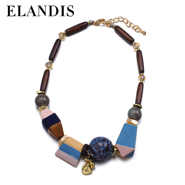 2012 new style custom wood necklace NL13845