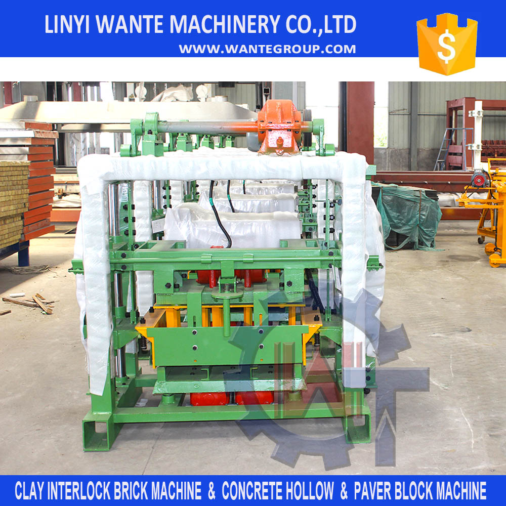 Small production machinery QT40-2 manual cement hollow block making machine
