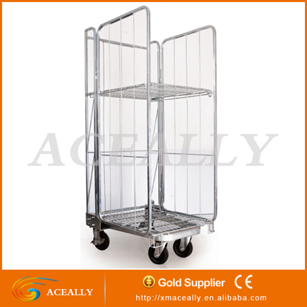 2017 hotel restaurant 2/4 doors 4 wheels folding stackable storage containers