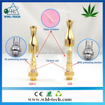2017 WHL new products with no leaking ceramic coil 0.6ml 0.8ml 1ml glass container 510 tank atomizer refillable cbd oil atomizer