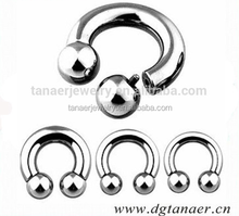 New Internally Threaded Circular Barbells Horseshoes Spike Horseshoe