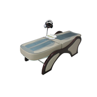 Automatic therapeutic heated jade stone roller massage bed