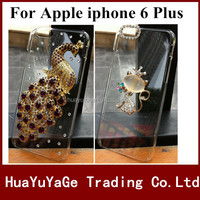 Free shipping phone cases 3D DIY cover Luxury Crystal Clear Diamond Bling Case for Apple iphone 6 Plus