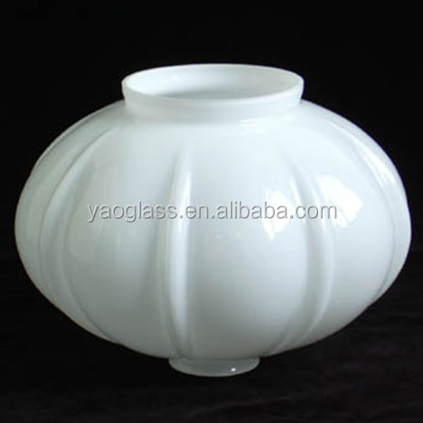 Wholesale blown opal white glass lamp shade