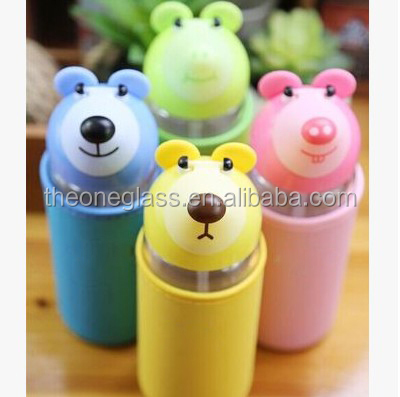 New Design Cute Kangaroo Glass Sport Bottle
