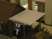 Roof moterized retractable awning