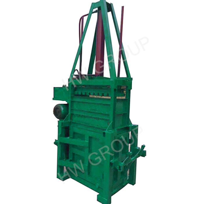 Small straw plastic press baler machine used clothes and textile compress baler machine for sale