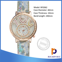 Discount Luxury China supplier PU Leather Lady Watch, Lover watch