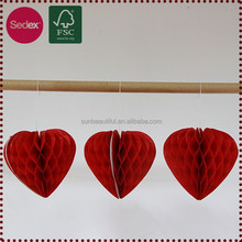 DIY Craft Hanging Paper Honeycomb Heart Paper Crafts