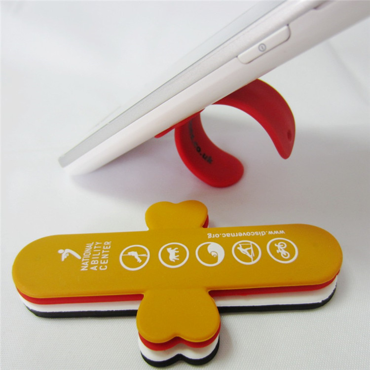 Promotion gift wholesale customized silicone phone tablet stand with low price