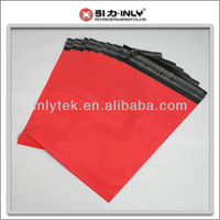Customized red poly mailers bag