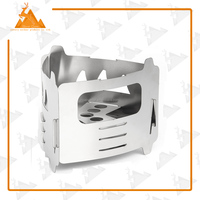 Lightweight Portable Solidified Alcohol Stove Outdoor Stainless Steel Backpacking Pellet Stove