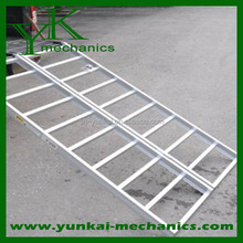 Folding motorcycle trailer ramp,truck ATV aluminum loading ramp
