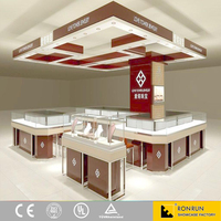 china famous brand Jewelry Modular trade show displays Supply jewelry store showroom furniture showcase for case display