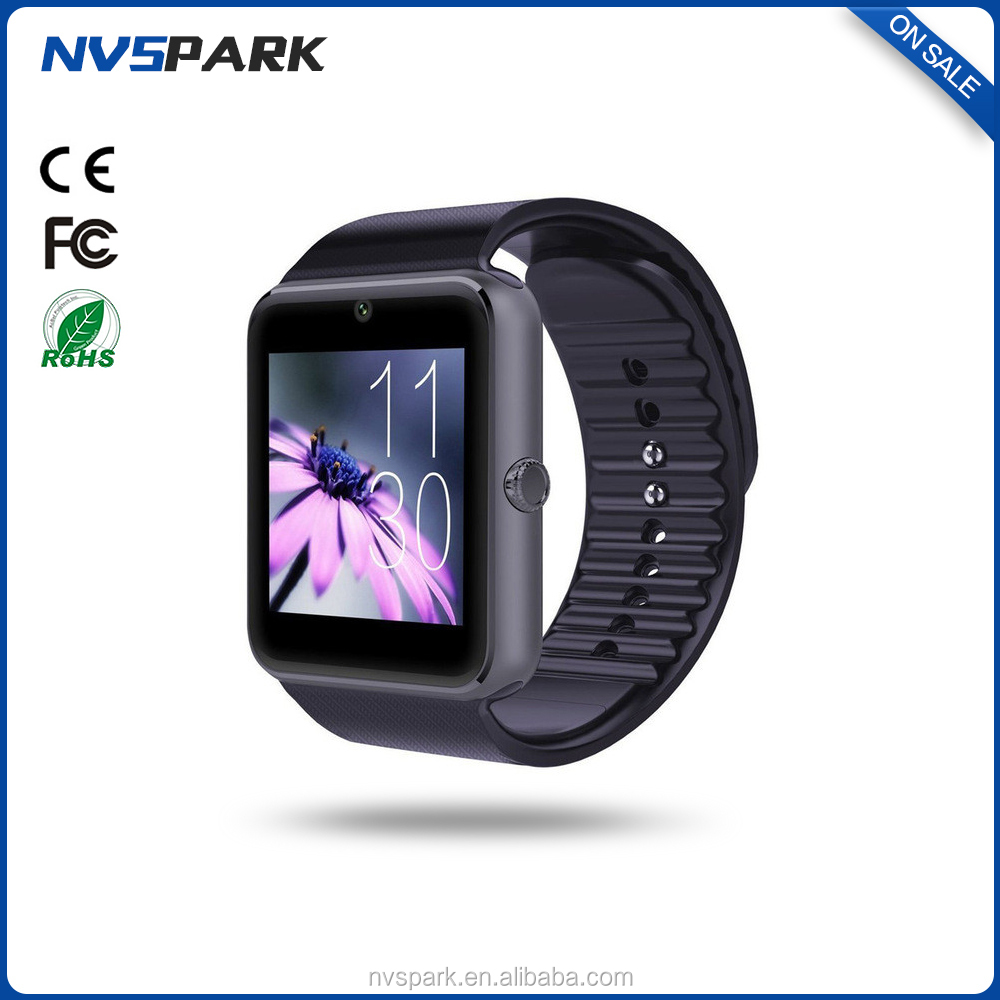 1.54 inch TFT touch screen bluetooth MTK chip mobile watch phones GT08 smartwatch