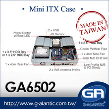 GA6502 - Desktop Horizontal Steel Computer Mini ITX HTPC Case