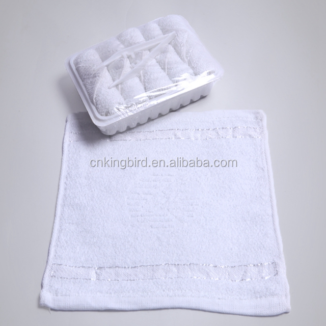Disposable hot/cold cotton towel for Air plane 17g
