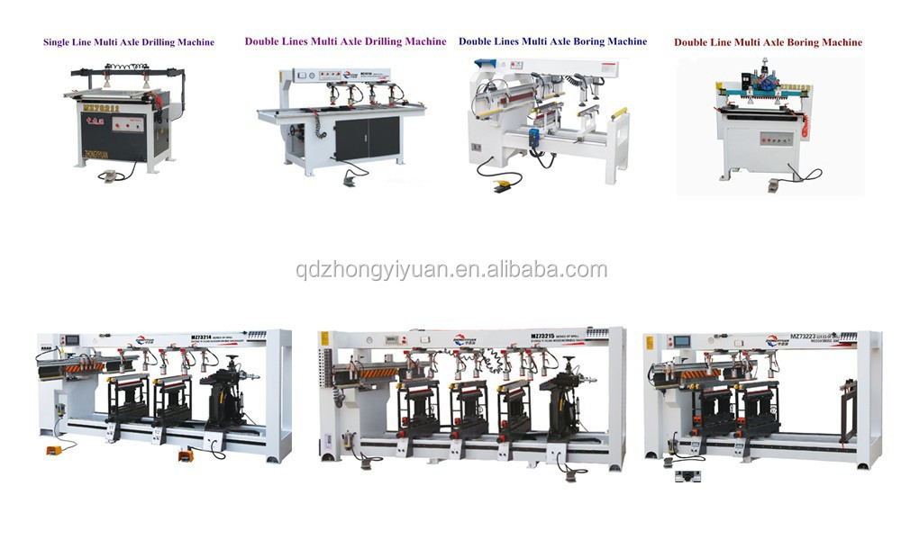MZ series model woodworking boring machine multi spindles furniture drilling machine