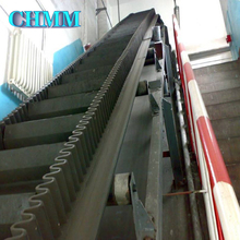 Fast Delivery 45 Degree Inclined Rubber Large Angle Belt Conveyor