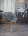 plastic and wood copy restanrant chair furniture modern leisure chair