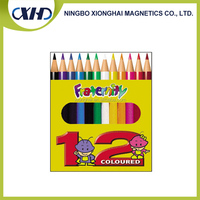 High quality cheap custom coloured carpenter pencil set with full color printing