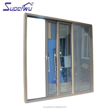 American NFRC standard customized design double glazed design aluminum three track three panels sliding door
