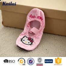 2016 new style lovely warm Satin fabric KITTY baby shoe