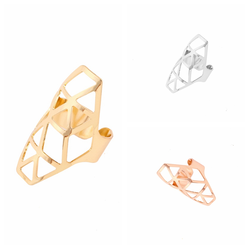 Punk irregular geometric finger ring gold/silver/rose-gold unique ring accessories JZ229
