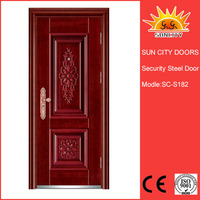 SC-S182 Fancy Metal Doors Exterior Safety Iron Door Models