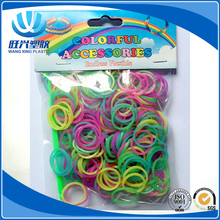 DIY fluorescent colored Loom rubber Bands for Bracelets,kids rubber band