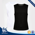 Guangzhou Shandao Latest OEM Casual Summer Men Sleeveless O-neck White Black Plain 160g 100%Cotton T Shirt