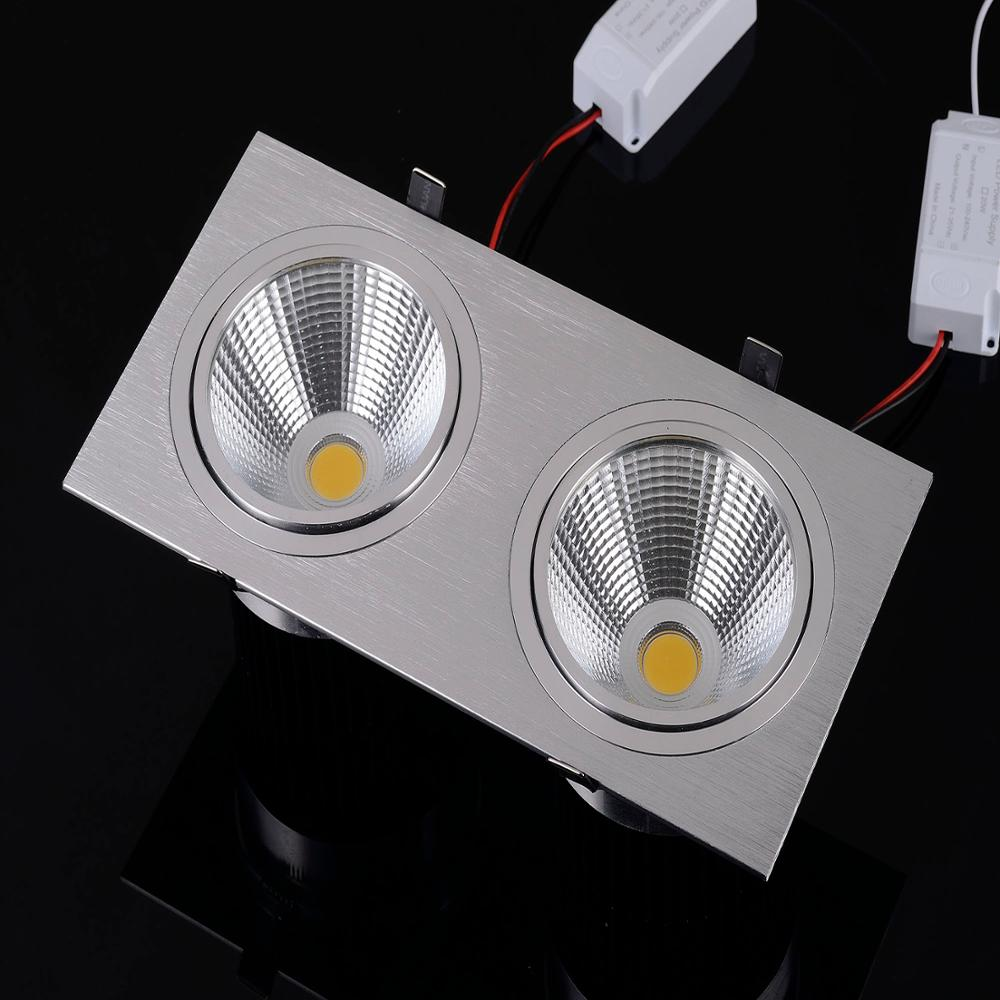 15W Power LED square downlight