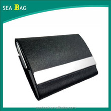 Oracle Grain Leather Business Card Case with Magnetic Shut To Keep Business Cards in Mint Condition