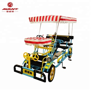Factory outlet family set child seat sightseeing four wheels canopy tour Quadricycle Surrey bike cycling