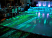 Black dance floor for matched with dimly lighting for mask party