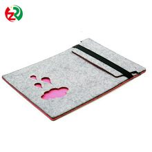 Amazon Customized Trendy lady felt laptop case, Best selling lowest price felt netbook pouch