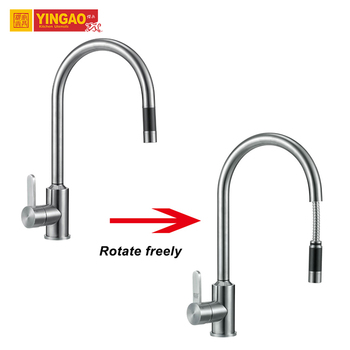 New Kitchen Designs One Hole Modern Single Stainless Steel Kitchen Faucet