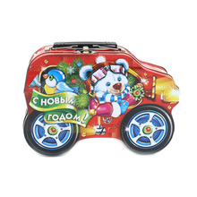 Hot Sale Small Metal Car Shape Gift Tin Boxes with Handle and Lock
