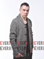 sweater knit fabric OEM Service shetland wool plain mens cardigans jacket