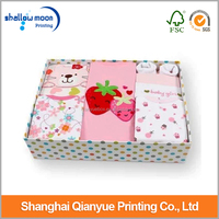 fashional design clothing/garment packaging box with clear window