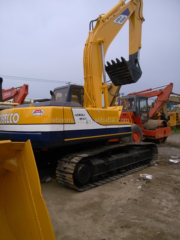 Used Japanese Kobelco SK200-3 Excavator SK200 Crawler Excavator for sale